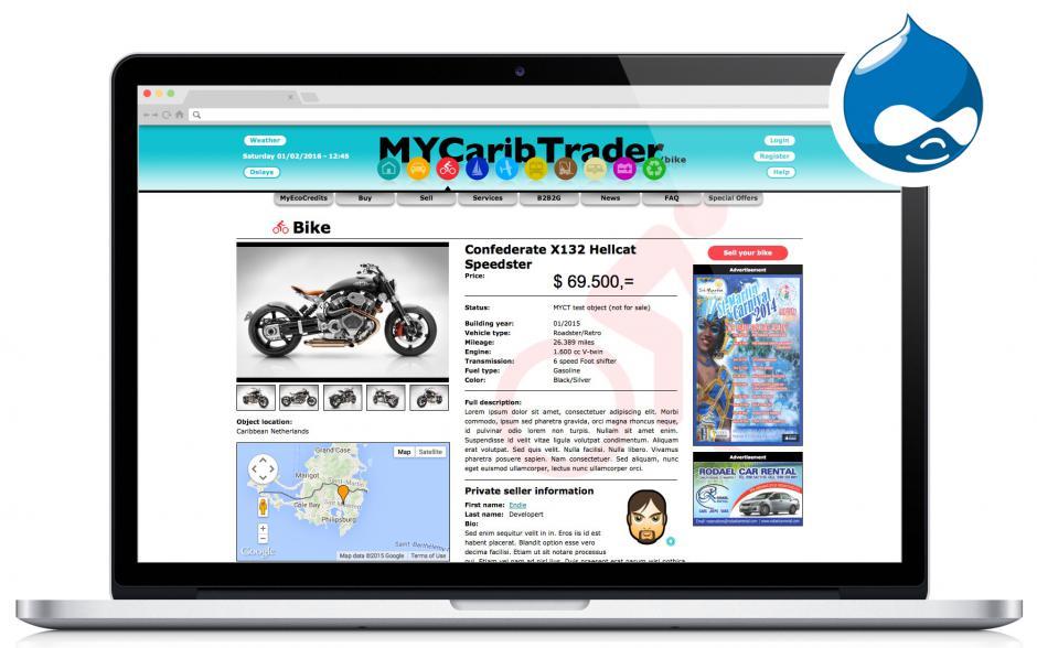 ndiSIGN web development MyCaribTrader
